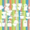 ウエルカムボード・メニューにカップなどの無料イラスト素材(EPS)