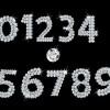 輝きがとっても綺麗! ダイヤモンド・宝石で描いた数字の飾り文字です(ai)