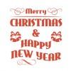 まだ間に合う! ?メリークリスマス&ハッピーニューイヤー無料ベクトル装飾の詰め合わせ(商用可・AI・EPS)