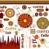 カフェ・喫茶の手作りメニューに! カップなどクリップアートいろいろ(VECTOR)