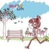 女の子の日常を描いた無料のベクターイラスト素材(EPS)