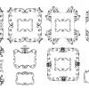 飾り罫、飾り枠、コーナー素材の詰め合わせ