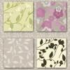 お花や葉っぱが超かわいい無料のシームレスパターン素材(WEB素材)