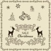 使い道いろいろ! かわいい系ヴィンテージ・クリスマス用イラスト素材(商用可・AI・EPS)