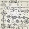 ヨーロピアン・クラシック調ベクター飾り枠、飾り罫、フレーム