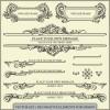 豪華! アイアン装飾を思わせるヨーロピアンクラシックの飾り枠・飾り罫 4セット(EPS)