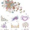 フリーダウンロード! きれいなお花の背景イラスト素材(Ai)