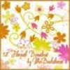 ポップでかわいいお花のブラシセット(Photoshop)