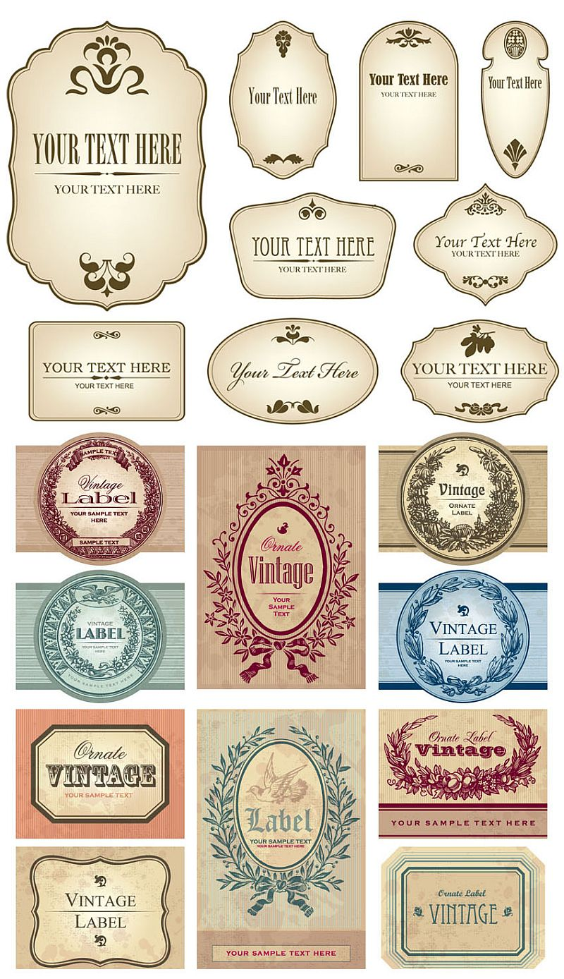 Vector Labels Free Download