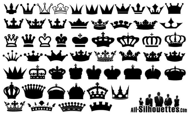 無料ダウンロード王冠やティアラのイラスト素材ベクタークリップ