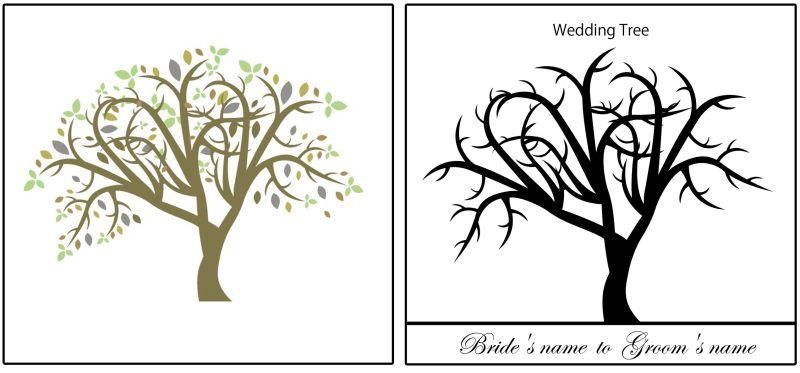ウェディングツリーに使いたい樹木のイラスト素材ベクター素材