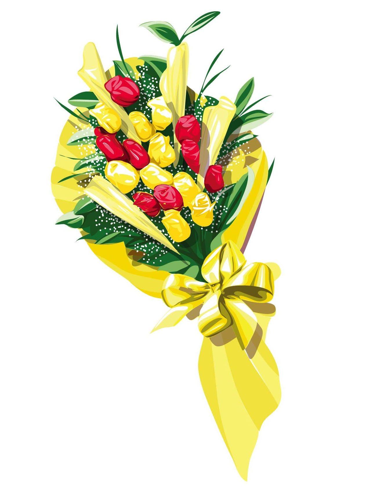 花束のイラスト素材ギフトプレゼントアイテムillustrator用