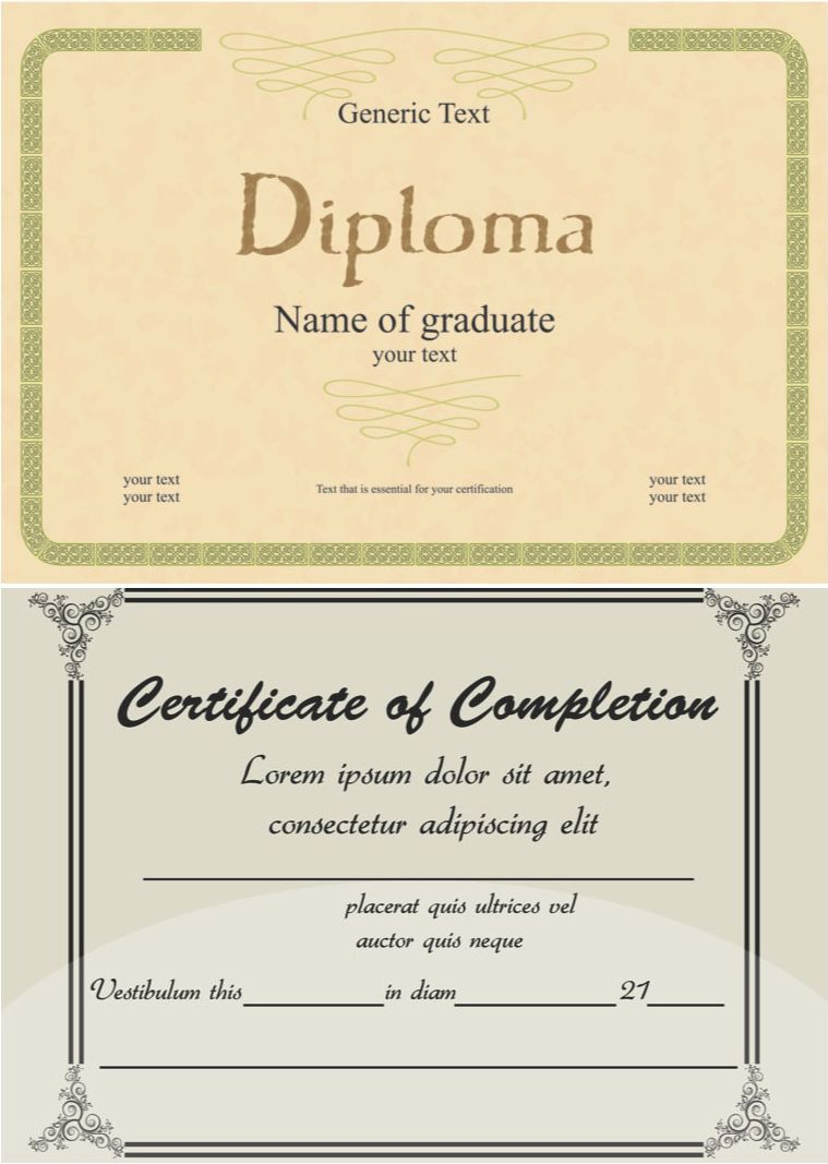 free style diploma templates vectorg yelopaper Gallery