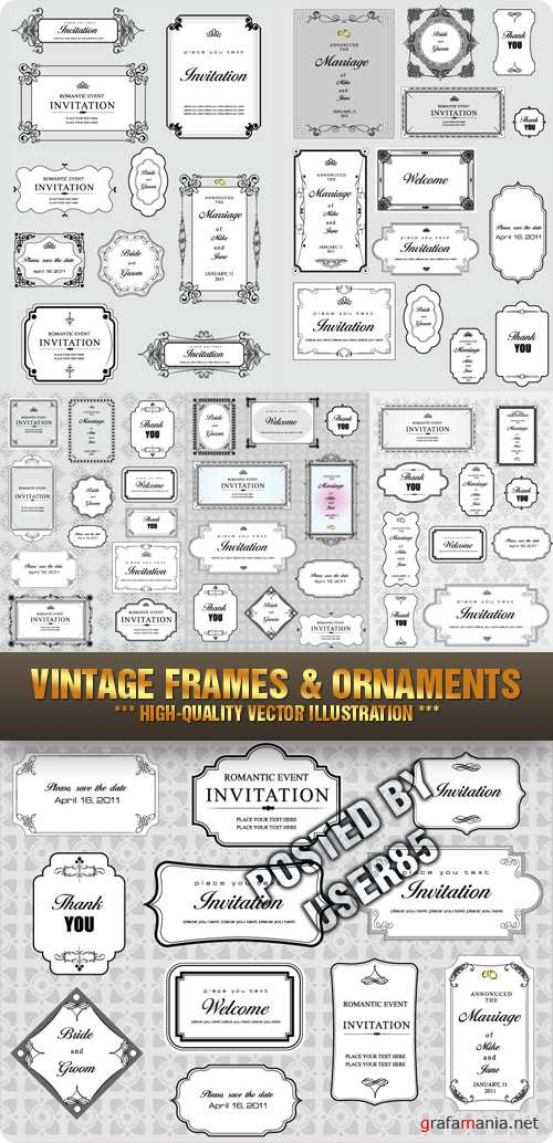 stock- vector - vintage -frames-ornaments ...