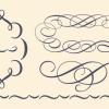 ベーシックなベクターカリグラフィ装飾 3set(商用可・EPS)