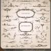 独特な手書き風ライン!カリグラフィック・デザイン・エレメント2set(EPS)