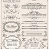 クラシック・エレガントなカリグラフィック飾り枠・飾り罫のセットです(EPS)