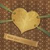 ビンテージスタイル!バレンタイン背景素材2個(EPS)