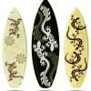 トカゲや木彫りの仮面が描かれたサーフボードの無料イラスト素材12種類(EPS)
