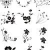 商用可!お花のクリップアート・シルエット・ベクター素材パック(EPS)