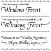 カリグラフィー風の英文(ローマ字)フォント