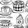 メニューにいかが!手書き風でかわいいコーヒーカップのフォトショップ・ブラシ(32コ)