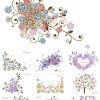 フリーダウンロード!きれいなお花の背景イラスト素材(Ai)