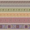 独特な世界観!ギリシャ伝統の模様-メアンドロス柄の飾り罫いろいろ(EPS)