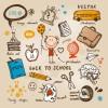 わくわくドキドキ新学期!学校に関するかわいい手書き風ベクターイラスト集(AI・EPS)