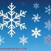 雪の結晶(Snow crystal)をモチーフにしたイラスト素材いろいろ(vector)