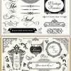 『 Wedding 』 用!ハイクオリティーなコーナー、飾り枠、飾り罫set