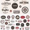 カフェ、ビストロ、レストラン、パン屋さんのメニューにワンポイント!お洒落なクラシックラベルのセット(EPS)