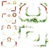 ギフトカードやWEB素材に! リボンとグリーンとお花の無料飾り枠・フレーム(AI)