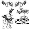 葉っぱ・花・つるのイラストがかわいい! フローリッシュな飾り枠・飾り罫(AI)