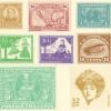 コラージュ素材 切手やスタンプのPhotoshopフリーブラシセット