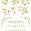 さわやかなフルーツ(葡萄)の飾り枠・飾り罫・コーナーSET(Ai)