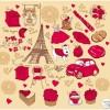 パリな感じでおしゃれなスケッチ風イラスト素材(SVG・AI・EPS)