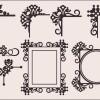 ヨーロピアンスタイルのエレガントな飾り枠(コーナー)ベクターパーツセット(EPS)