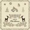 使い道いろいろ!かわいい系ヴィンテージ・クリスマス用イラスト素材(商用可・AI・EPS)