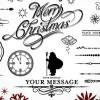 ヴィンテージなクリスマスカード作りにもってこい! 飾り枠、飾り罫、飾り文字詰め合わせ
