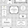 繊細なデザイン! エレガントな招待状にぴったりなフレーム集(Ai、EPS、SVG)