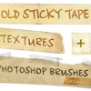 使い道いろいろ!古い紙のテープ素材(高解像度JPG&ABR)