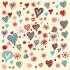 バレンタインに! ハートのパターン素材(あらゆる背景、包装紙にも)