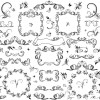 フローラルの飾り枠、無料ベクターデータ集