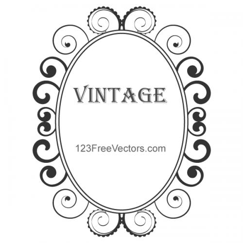 112-vintage-floral-frame-vector