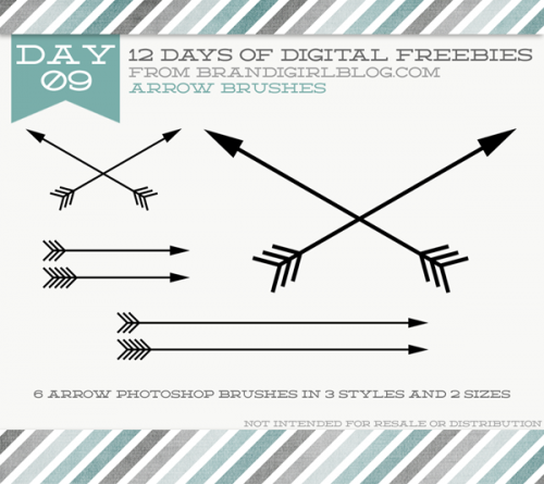 12 days of freebies - arrow brushes