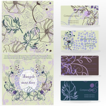 14-leaves-pattern-card-vector-material-02-450x450