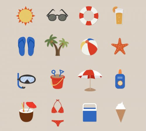 16 of the summer holiday icon vector