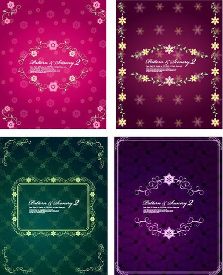 4-Fashion-lovely-lace-pattern-vector-material-thumb-450x553-2820
