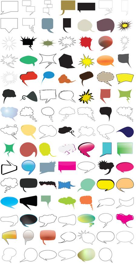 bubbles 600 5 thumb 450x870 2937 いろんなデザインのふきだし素材がいっぱい!(無料ベクターデータ)   Free Style